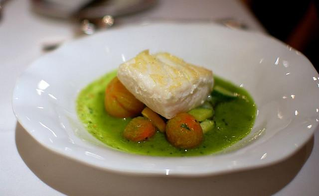 Halibut with Mushroom Broth