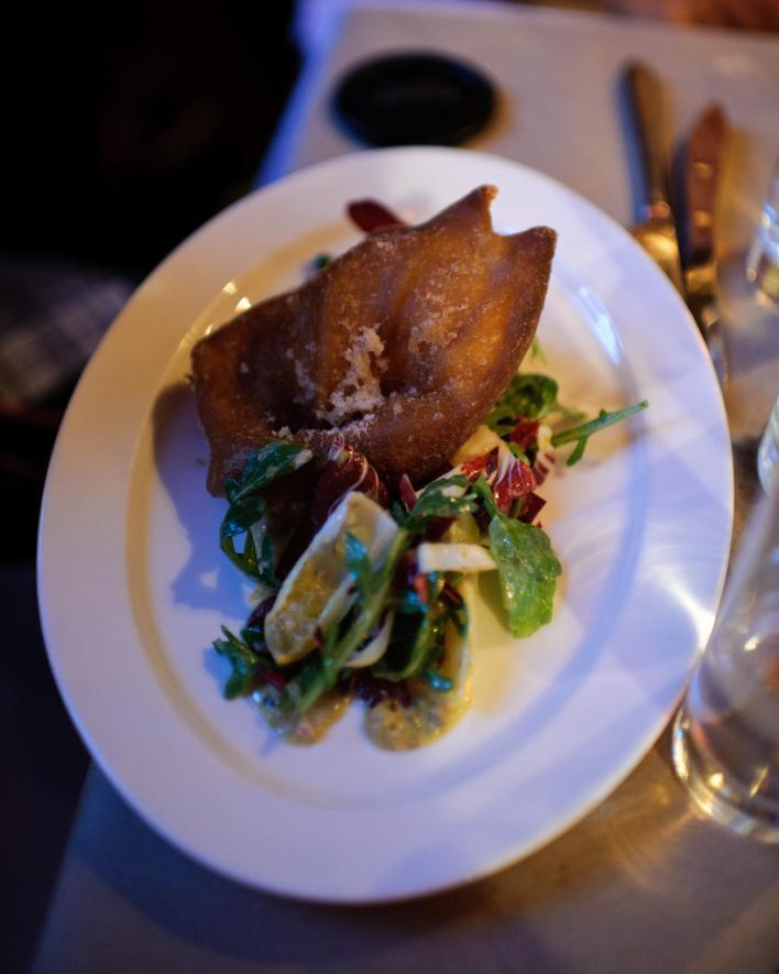 THE SPOTTED PIG: Crispy Pig Ear Salad