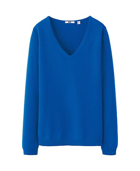CASHMERE V NECK SWEATER  - UNIQLO