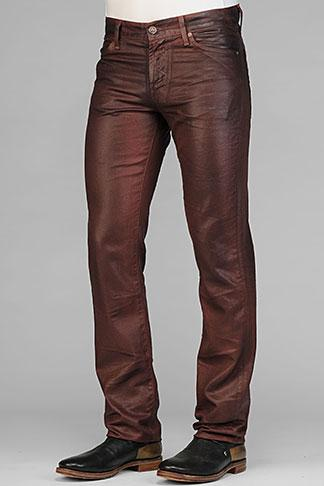 Slimmy Straight Leg In Cognac Leather-Like Denim | 7 For All Mankind