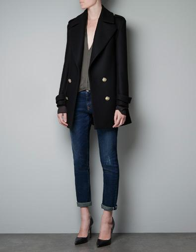 SHORT MILITARY JACKET - Coats - Woman - ZARA Netherlands
