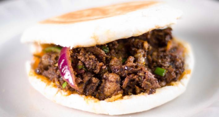 SPICY CUMIN LAMB BURGER