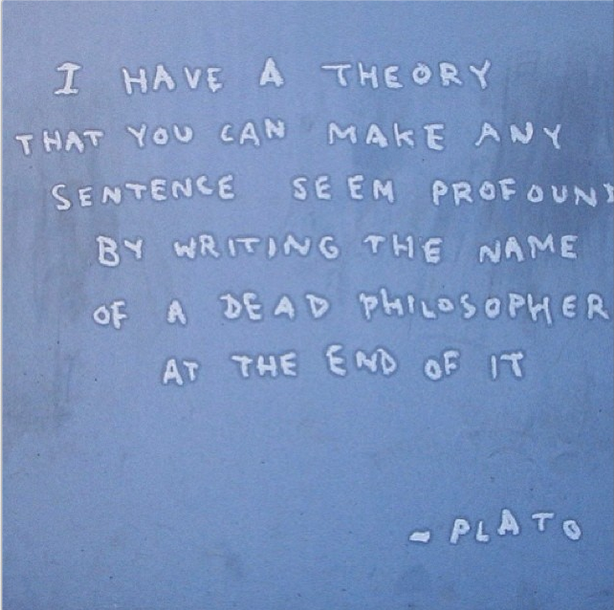 Fake Plato Quote in Greenpoint