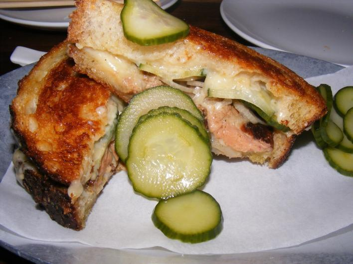 Foie Gras and Smoked Cheddar Grilled Cheese