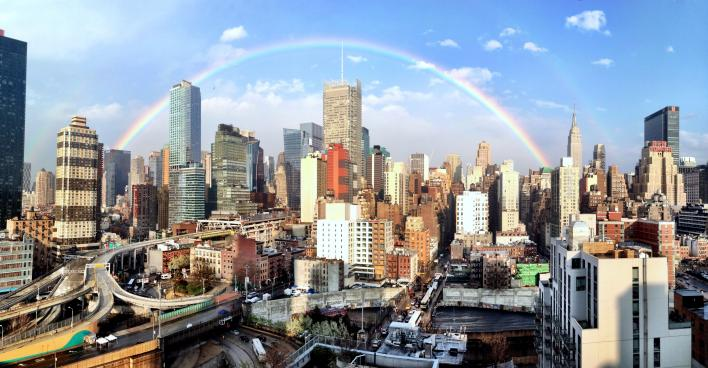 Rainbow over Manhattan