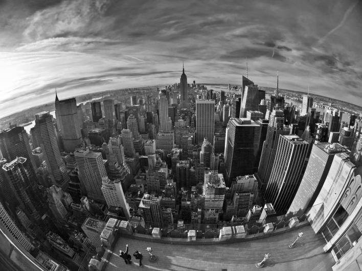 New York Fisheye - aerial