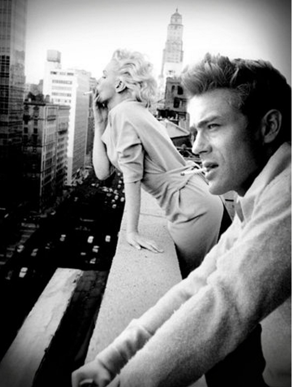 James Dean and Marilyn Monroe in New York