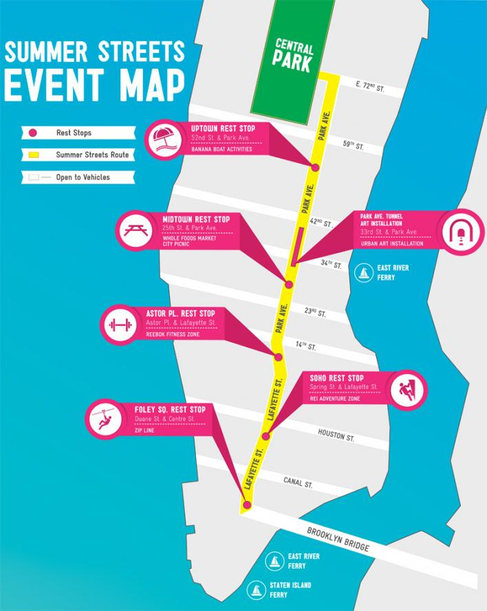 summer street NYC 2013 map