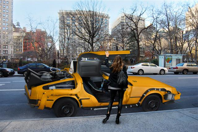 DeLorean Taxi