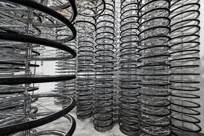 Stacked Wheels - Ai Wei Wei