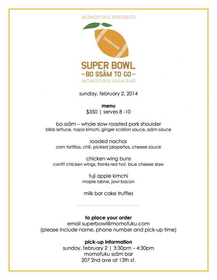 momofuku ssam bar superbowl menu