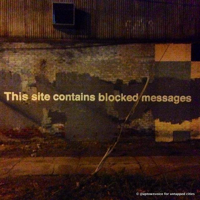 """Day 27: """"This Site Contains Blocked Messages"""" in Greenpoint"""