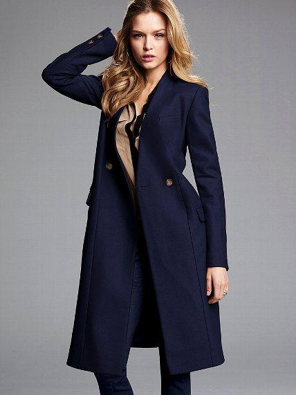 Collarless Wool Coat - Victoria's Secret