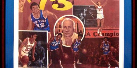 1973 New York Knicks Signed Lithograph