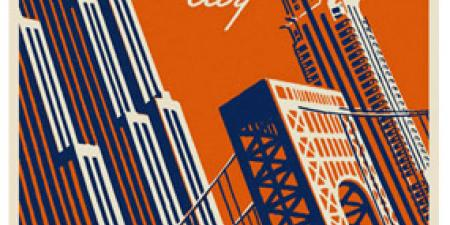 Retro New York City Travel Poster