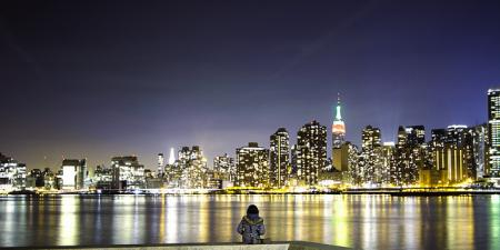 Night Skyline of Manhattan from Long Island City