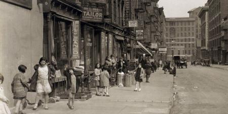 28th Street Looking east from Second Avenue, on April 4, 1931