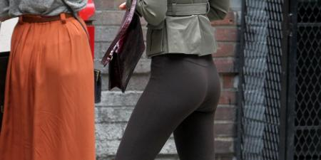 Leighton Meester in Riding Boot