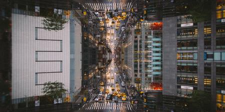 Columbus Circle Mirrored View
