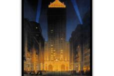 New York City Central Building Mini Poster Vintage