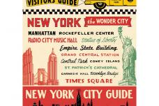 NYC Vintage Travel Guide Poster