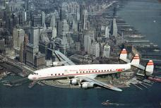 TWA Flight Over Lower Manhattan - 1953