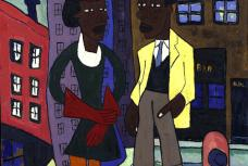 William H. Johnson's Street Life, Harlem (1939)