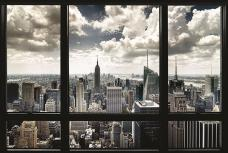 New York Window Poster