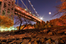 Night under the Brooklyn Bridge