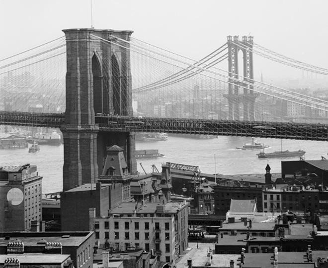 New York Skyline Early 1900
