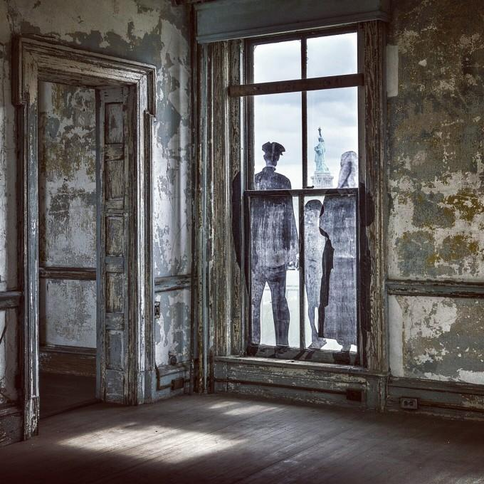 Artist JR's Ellis Island Southside Project