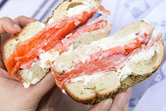 Lox Bagel sandwich