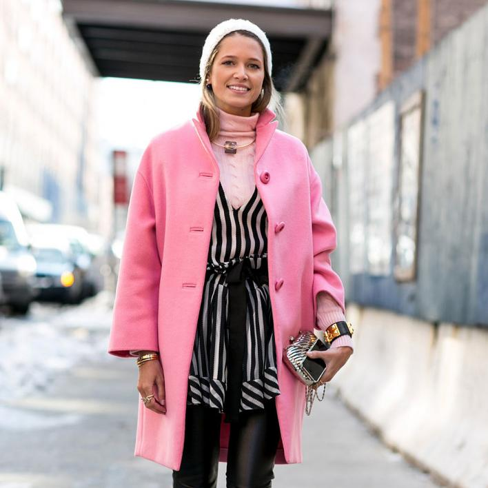 Pink Coat in Fashion Week
