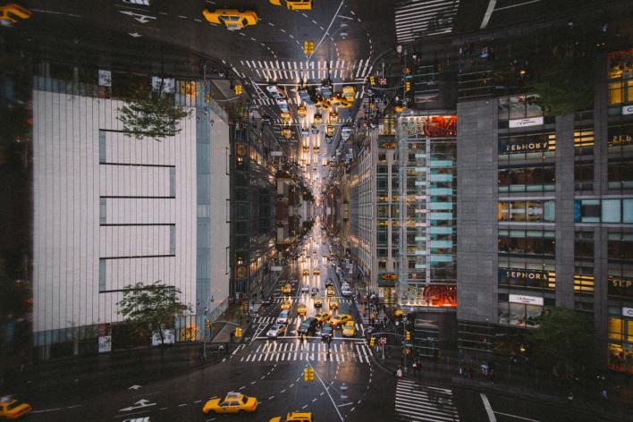 Columbus Circle Mirrored View