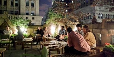 Summer open air bar