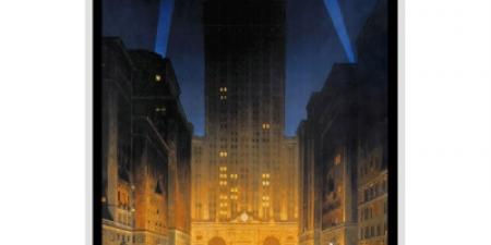 New York City Central Building Mini Poster Vintage