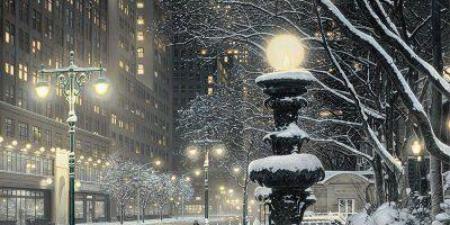 NYC Snowy Night