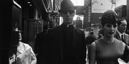 New York priest with dark sunglasses