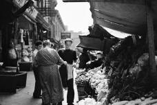 Italian vegetable sidewalk stand, on Bleeker Street