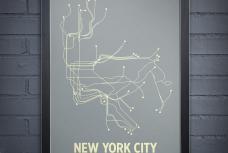 New York City Line poster