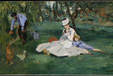 Monet Family at the Garden