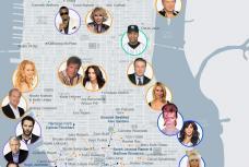 NYC Celebrity Star Map